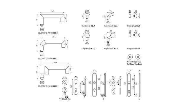 GU BELCANTO_PANIK_WDL_Olive_Notentriegelung_Z_8z5 Produkt-Zeichnung