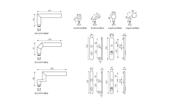 GU BELCANTO_Schutzbeschlag_ES3_Z_8z5 Produkt-Zeichnung