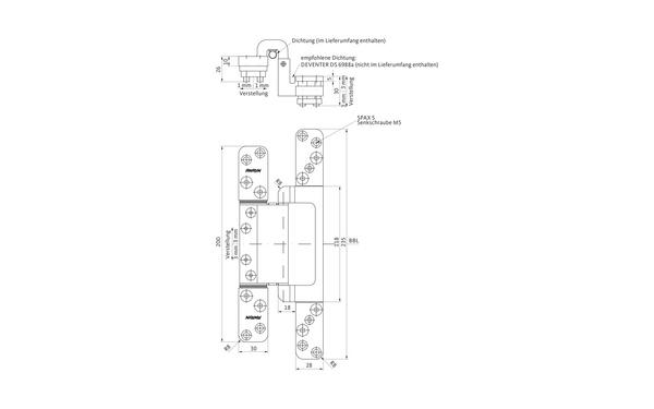GU C 616-18 FD 3D CONCEALED Verdeckt liegendes Band H-01816-01-0-1_ma00 Produkt-Foto