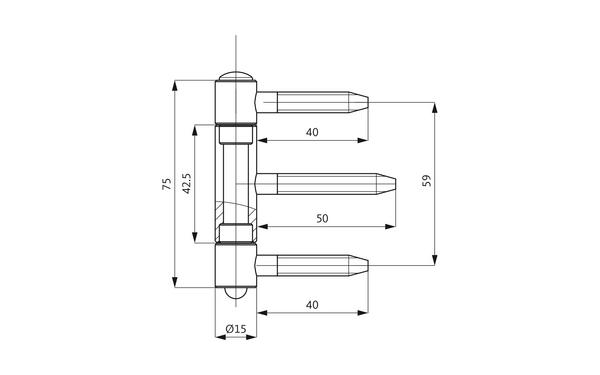 GU D 106-15 Einbohrband H-01676-00-0-X_na00 Produkt-Zeichnung