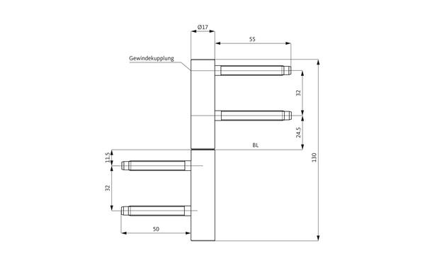 GU D 212-17 3D Einbohrband H-01727-00-0-X_na00 Produkt-Zeichnung