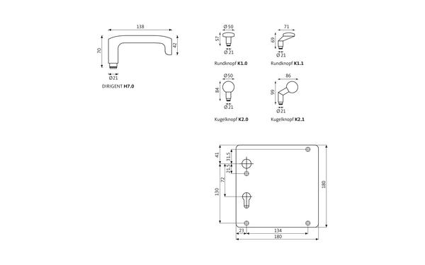 GU DIRIGENT_Breitschild_Z_8z5 Produkt-Zeichnung