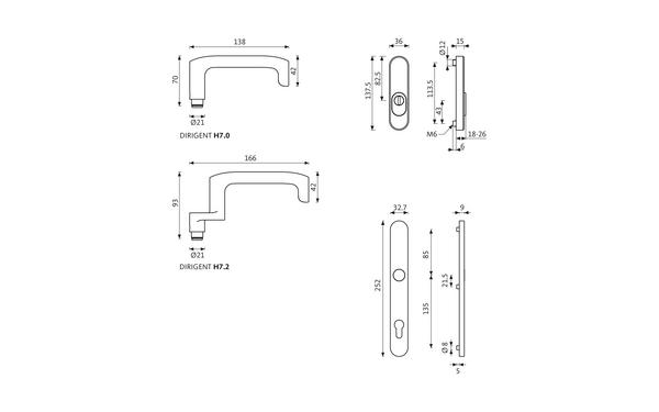 GU DIRIGENT_ES1_Z_8z5 Produkt-Zeichnung