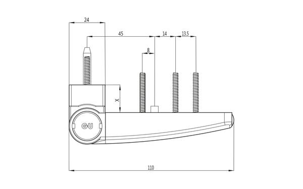 GU F 110 Aufschraubband H-01337-11-0-X_na00 Produkt-Zeichnung