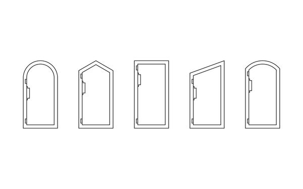 GU Falztuerschliesser_Tuerformen_8z5 Produkt-Zeichnung