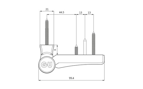 GU G 810 F 100 Aufschraubband H-01398-00-0-X_na00 Produkt-Zeichnung
