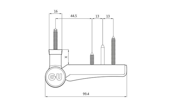 GU G 810 F 100 S Aufschraubband H-01411-00-0-X_na00 Produkt-Zeichnung