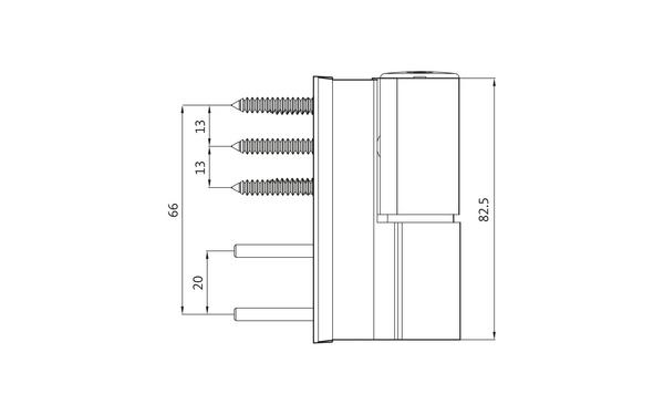 GU G 810 F 100 S Aufschraubband H-01411-00-0-X_na01 Produkt-Zeichnung