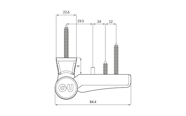 GU G 810 F 85 Aufschraubband H-01401-00-0-X_na00 Produkt-Zeichnung