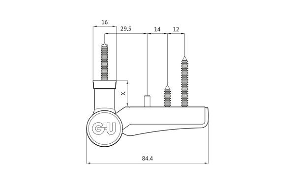 GU G 810 F 85 S Aufschraubband H-01412-00-0-X_na00 Produkt-Zeichnung