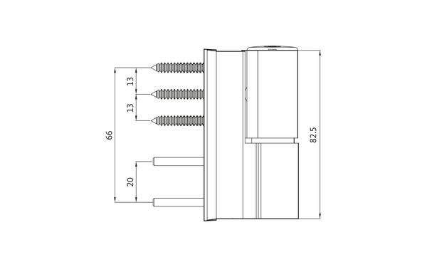 GU G 810 F 85 S Aufschraubband H-01412-00-0-X_na01 Produkt-Zeichnung