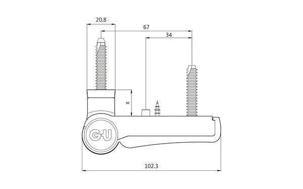 GU G 812 F 100 Aufschraubband H-01404-00-0-X_na00 Produkt-Zeichnung
