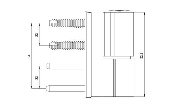 GU G 812 F 100 Aufschraubband H-01404-00-0-X_na01 Produkt-Zeichnung