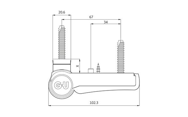 GU G 816 F 100 Aufschraubband H-01408-00-0-X_na00 Produkt-Zeichnung