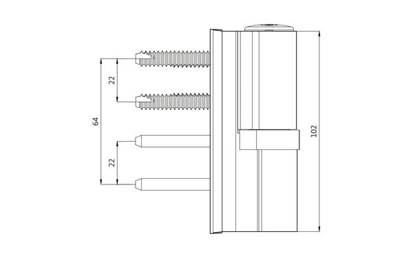 GU G 816 F 100 Aufschraubband H-01408-00-0-X_na01 Produkt-Zeichnung