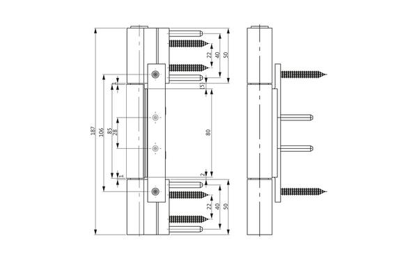 GU R 816 3D Rollenband H-01797-00-0-X_na01 Produkt-Zeichnung