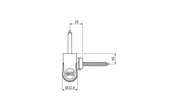 GU R 816 3D Rollenband H-01797-00-0-X_na02 Produkt-Zeichnung