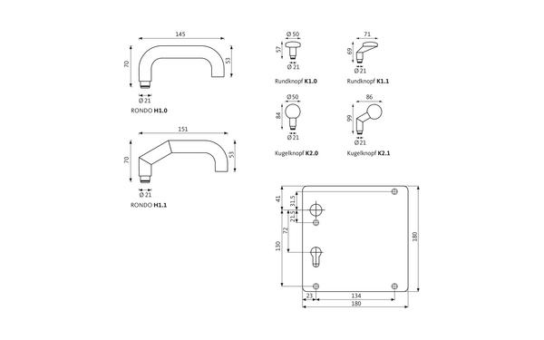 GU RONDO_Breitschild_Z_8z5 Produkt-Zeichnung