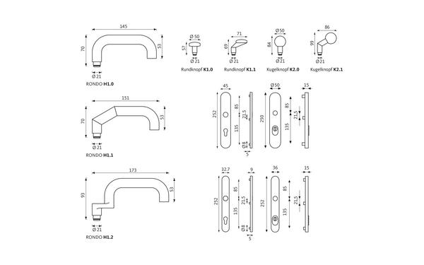 GU RONDO_Schutzbeschlag_ES3_Z_8z5 Produkt-Zeichnung